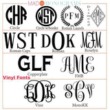 vinyl decal font choices for corkcicle