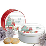Personalized Striped Nutcracker Cookie Tin