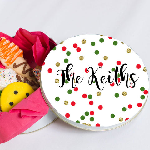 Personalized Christmas Tin Glitter Confetti