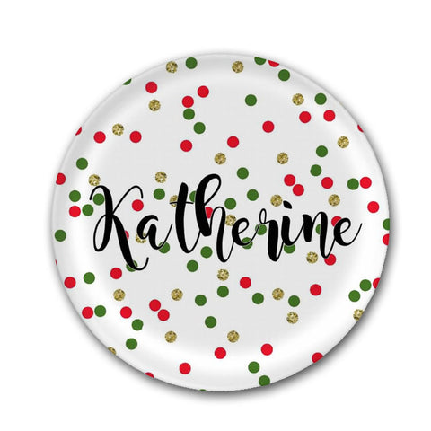 Personalized Christmas Plate With Name