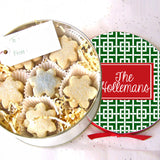 Personalized Patterned Christmas Cookie Tin