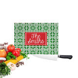 Personalized Christmas Cutting Board  Greek Key