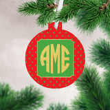 Monogrammed Gold Ornament