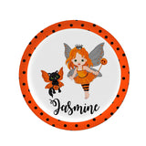 Personalized Girl Halloween Plate