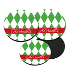 Personalized Christmas Harlequin Coasters
