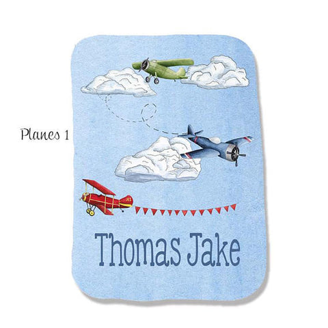 Personalized Airplane Burp Pad