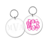 engraved key chain or vinyl decal keychain