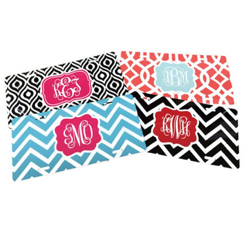 Monogrammed License Plate  Design Your Own