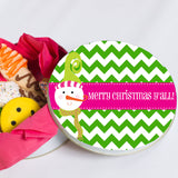 Personalized Snowman Cookie Tin
