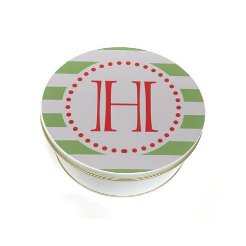 Monogram Initial Cookie Tin