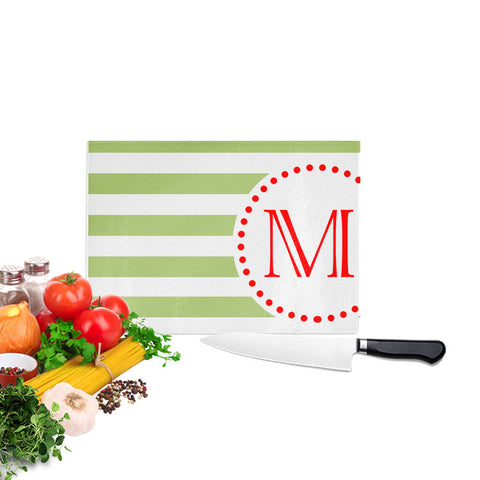 Monogram Initial Christmas Cutting Board