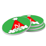 Personalized Santa Hat Christmas Coasters