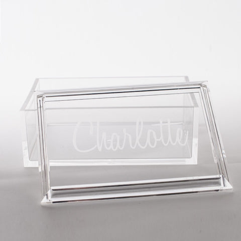 Personalized Acrylic Box with Lid