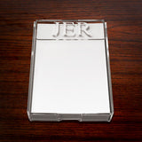 Monogrammed Acrylic Note Holder