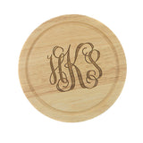 Monogrammed Wood Cheese Board