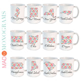 Personalized Floral State Mug