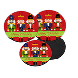 Personalized Nutcracker Christmas Coaster Set