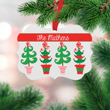 Personalized Topiary Christmas Ornament