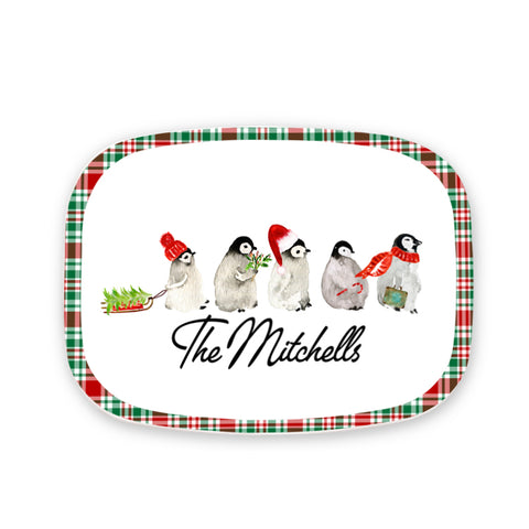 Christmas Penguins Platter