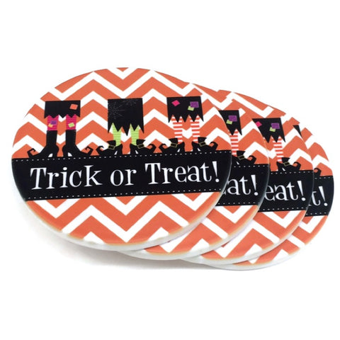 Personalized Halloween Coaster Set