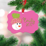 Personalized Girls Christmas Ornament