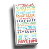 Playroom Rules Canvas Wall Art