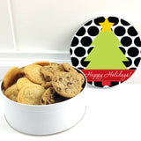 Personalized Polka Dot Christmas Cookie Container