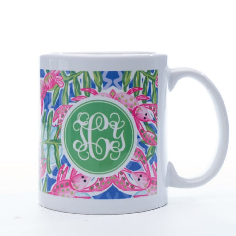 Monogrammed Preppy Lobster Mug