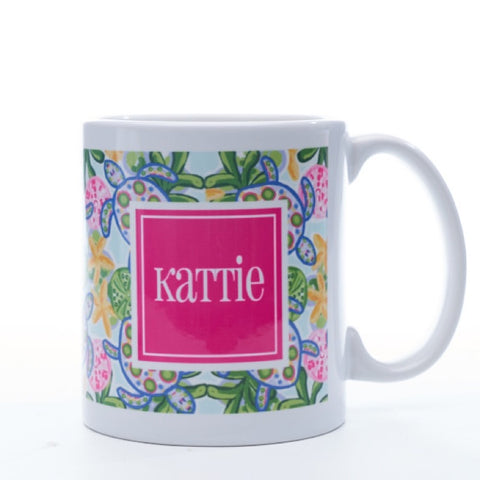 Personalized Preppy Turtle Mug