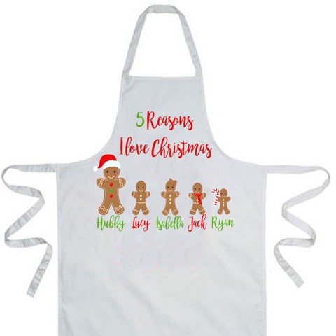 Reasons I Love Christmas Apron
