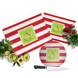 Red Stripe Cutting Board