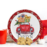 Christmas VW Beetle Plate