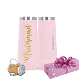 Personalized Rose Quartz Corkcicle Champagne
