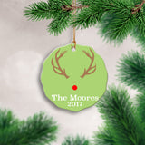Personalized Antler Ornament