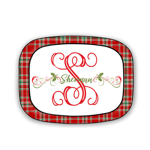 Tartan Plaid Serving Platter