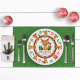 personalized reindeer plate with name Christmas
