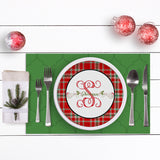 Tartan Plaid Christmas Plate