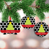 Personalized Polka Dot Christmas Ornament