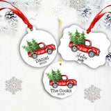 Christmas Tree Truck Personalized Ornament