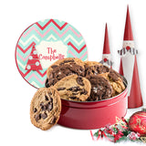 Christmas Tree Chevron Custom Cookie Tin with personalization