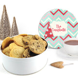 Christmas Tree Chevron Custom Cookie Tin