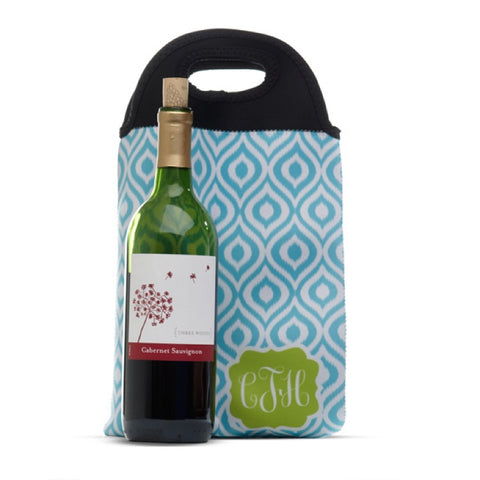Monogrammed Double Wine Tote Bag