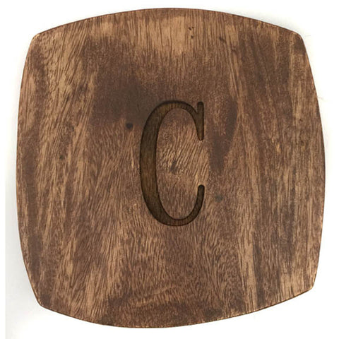 Monogrammed Wood Appetizer Board
