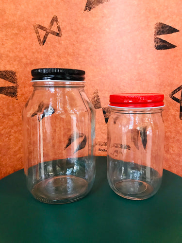 One Piece Metal Mason Jar Colored Lids, Regular Mouth
