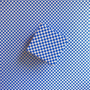 Checkerboard Cobalt Gift Wrap