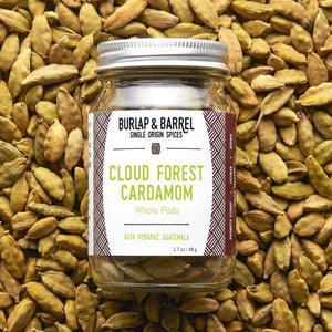 Cloud Forest Cardamom (Whole Pods) / Burlap + Barrel