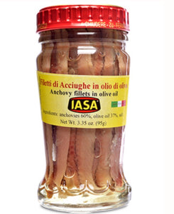 Anchovy Fillets in Olive Oil, 95 g, IASA