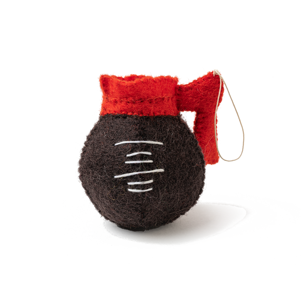 Felt Diner Coffee Pot Ornament