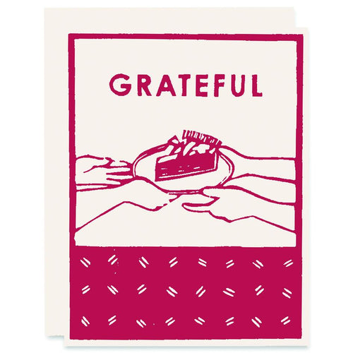 Pack of 6 Grateful for Pie (Crimson)