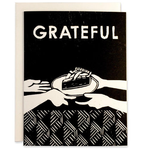 Pack of 6 Grateful for Pie (Black)
